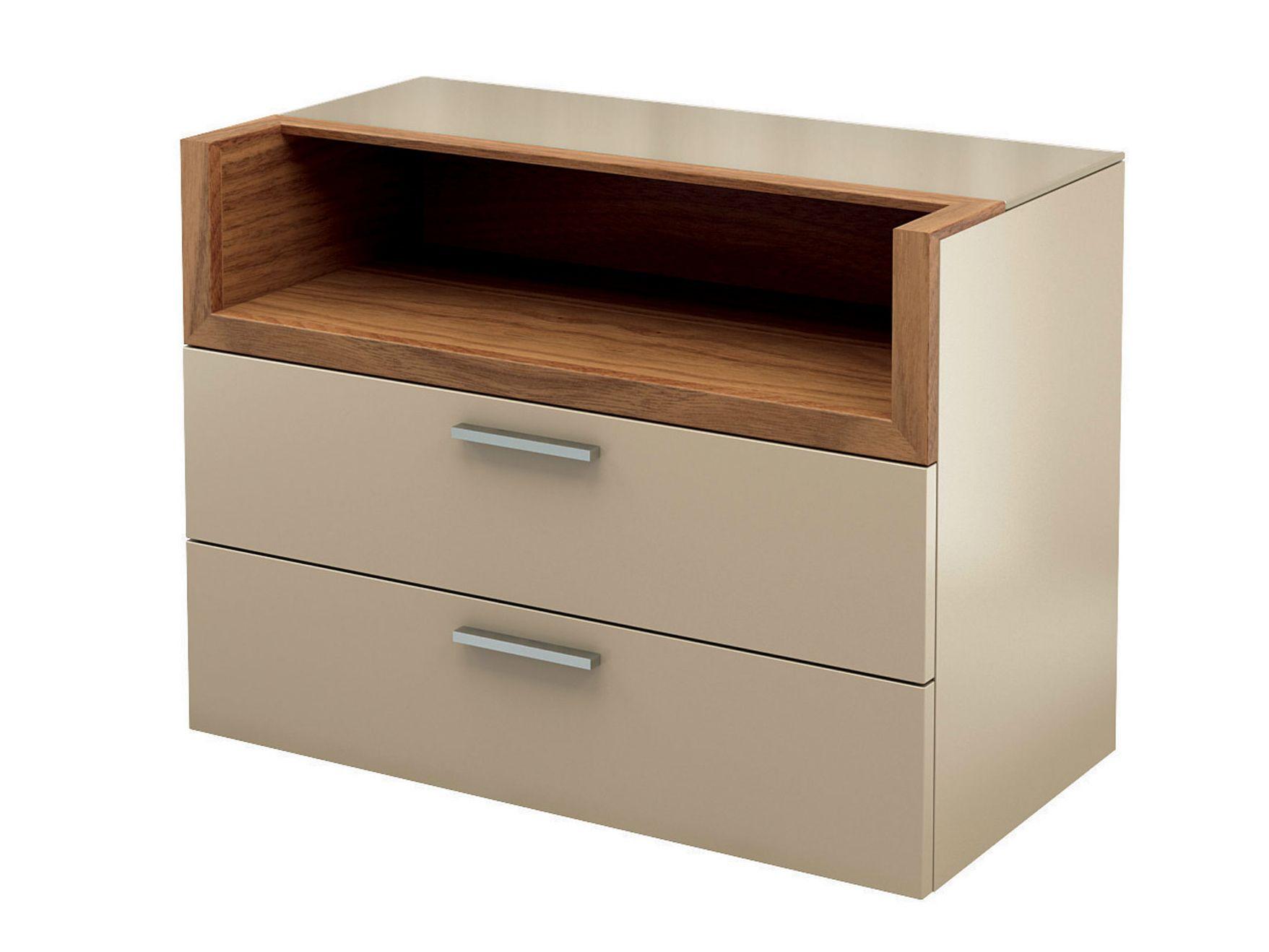 lackierter nachttisch mit schubladen kollektion multi. Black Bedroom Furniture Sets. Home Design Ideas