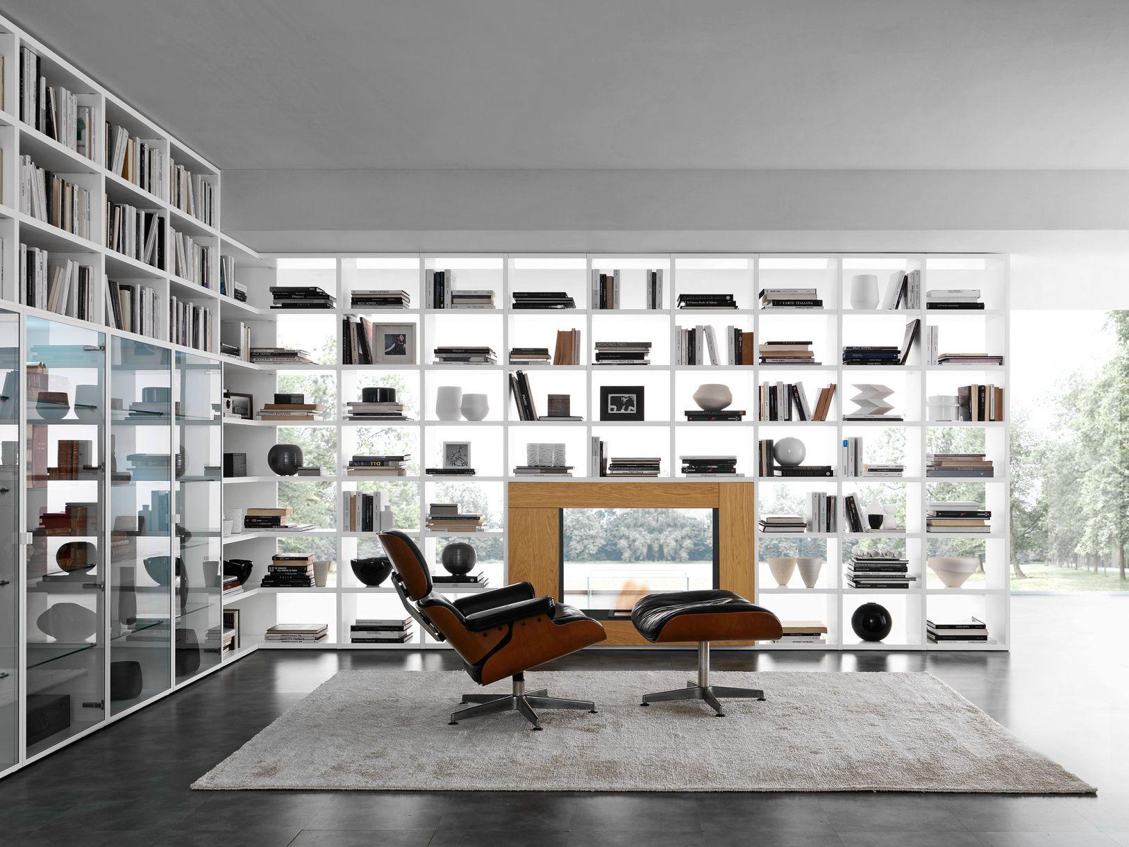 Libreria a giorno a parete componibile pari dispari comp for Mobili giorno