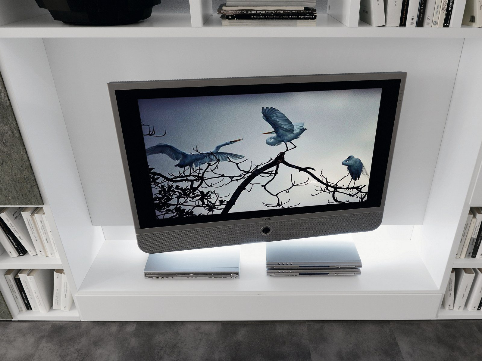 Anbau  lackierte tv  wohnwand pari&dispari   comp 332 by presotto ...