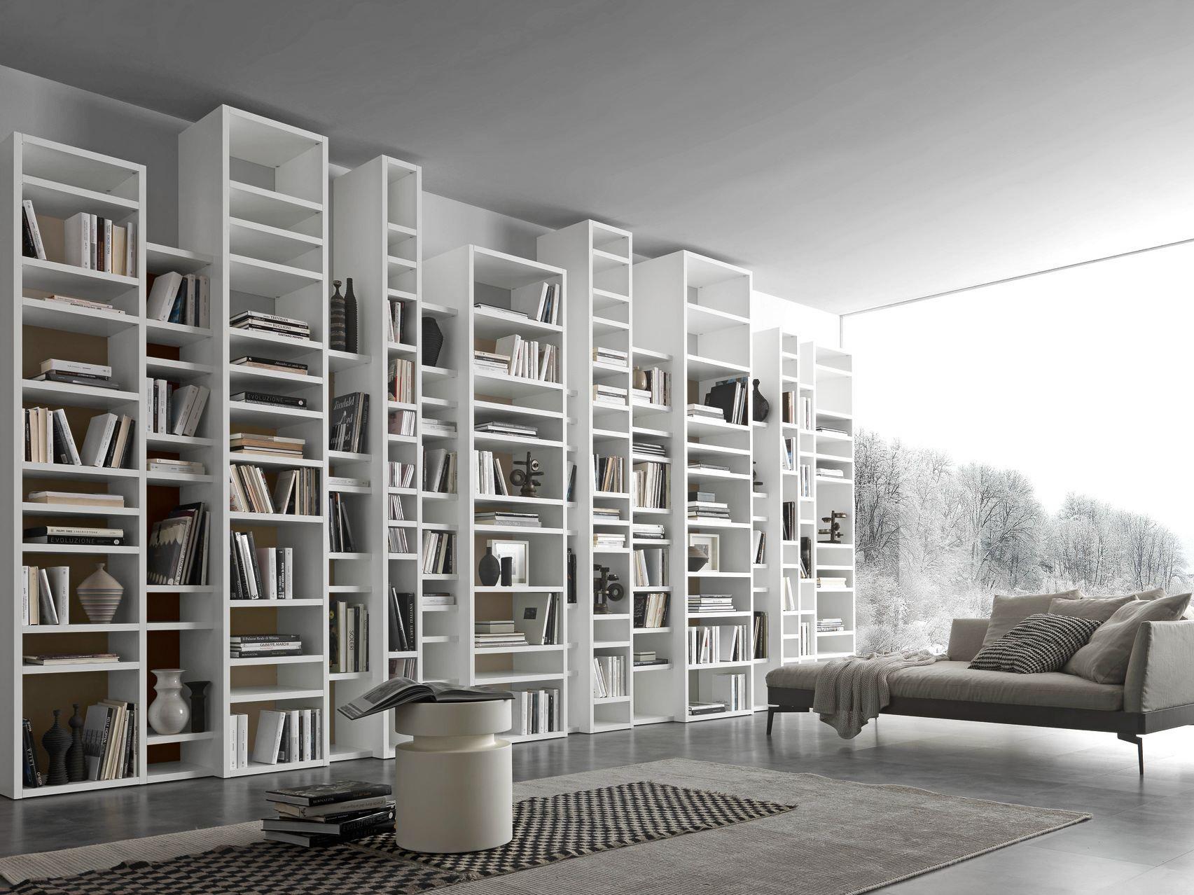 Libreria a giorno a parete componibile pari dispari comp for Presotto mobili