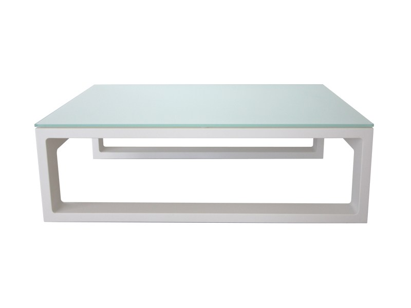 Low Glass And Aluminium Garden Side Table Stockholm Collection By S R Nit Luxury