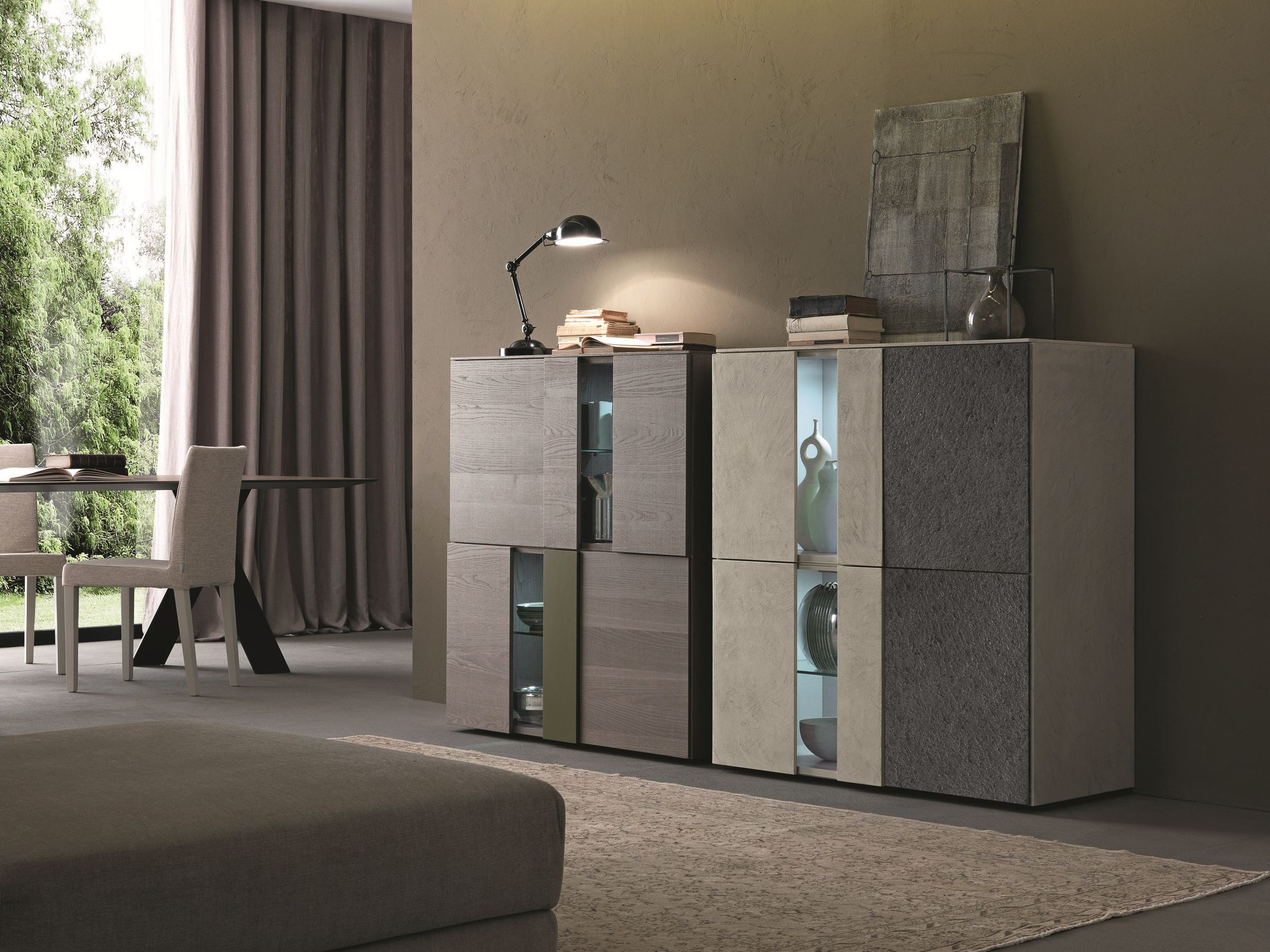 I modulart credenza con ante a battente by presotto for Www presotto it