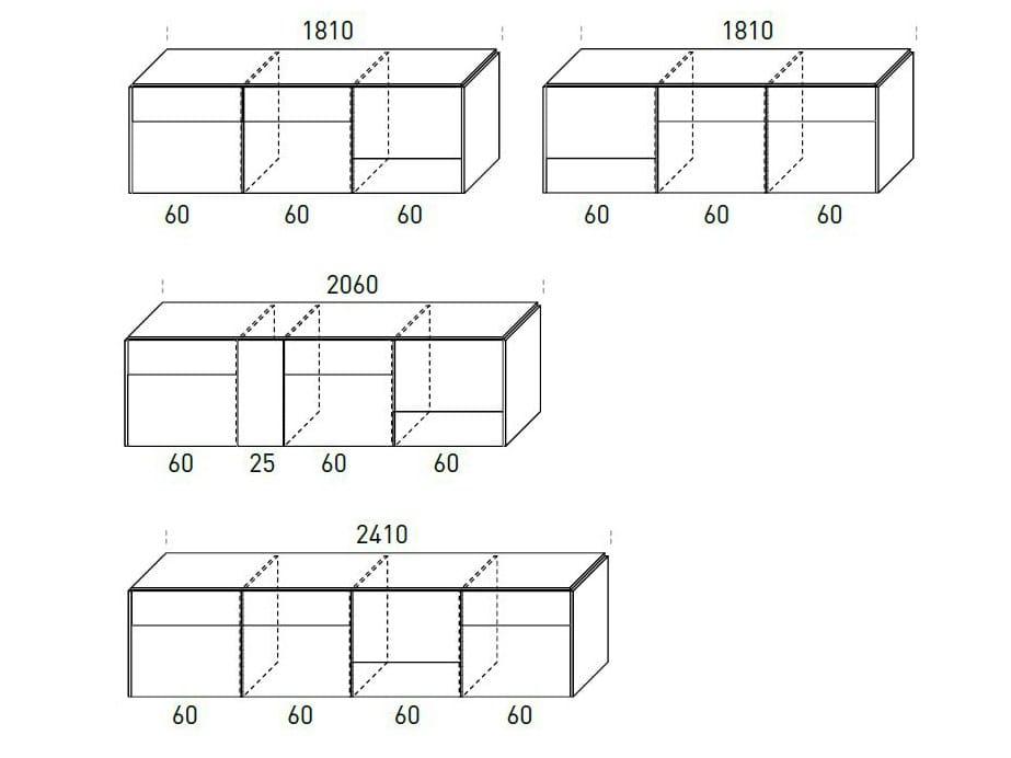 Inclinart modular sideboard by presotto industrie mobili for Presotto industrie mobili