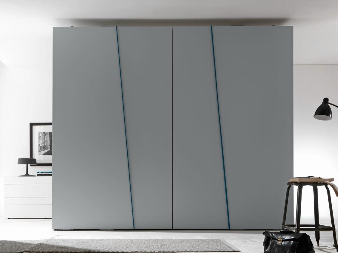 Armoire composable laqu e portes coulissantes diagonal for Mobili design