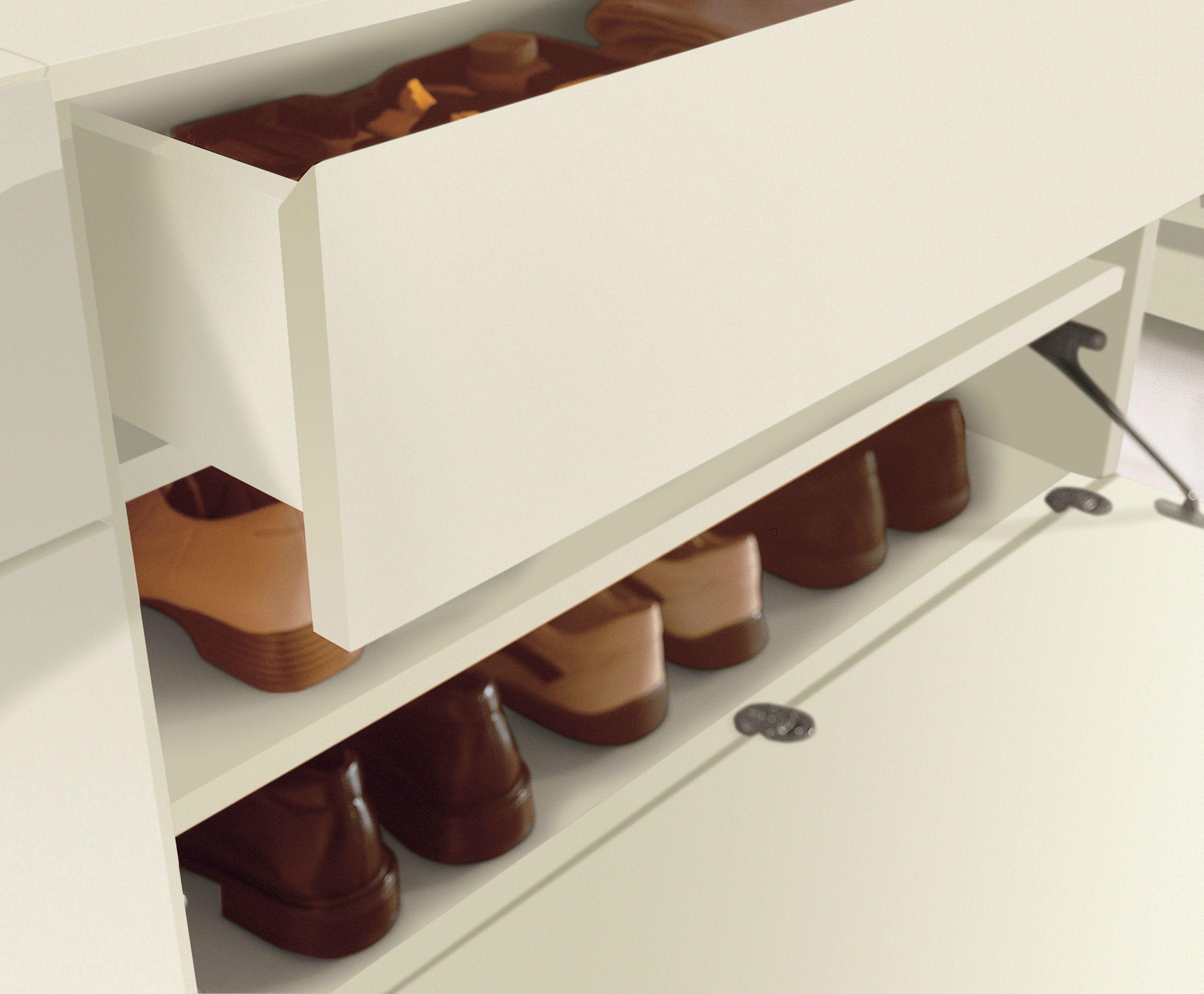 schuhschrank zur wandmontage by h lsta werke h ls. Black Bedroom Furniture Sets. Home Design Ideas