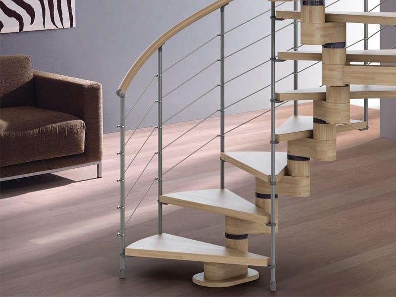 Scala a chiocciola in legno spiral gamma by rintal for Rintal scale prezzi