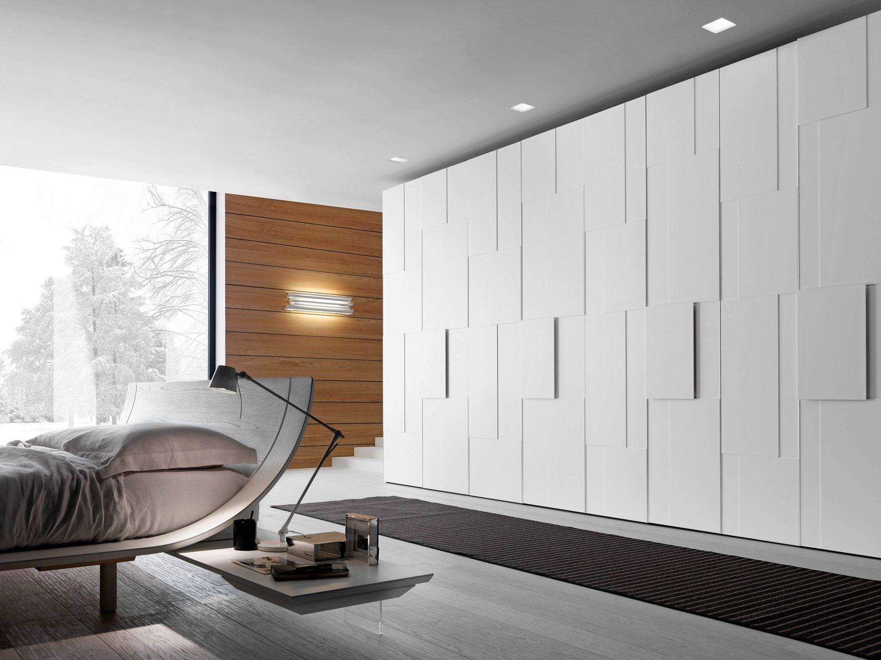 Sectional lacquered wardrobe tecnopolis anta step by for Www presotto it