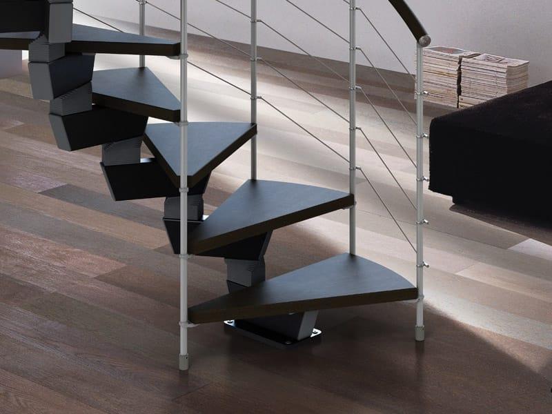 Scala a chiocciola elicoidale in acciaio e legno spiral for Rintal scale prezzi