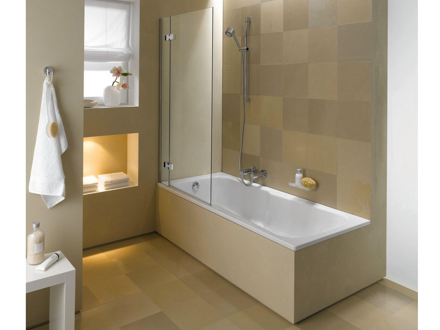 Vasca da bagno in acciaio smaltato con doccia betteset collezione vasche da bagno con doccia by for Bagno con doccia