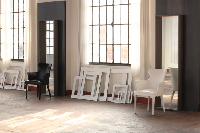 miroir rectangulaire avec cadre collection volterra by colli casa. Black Bedroom Furniture Sets. Home Design Ideas