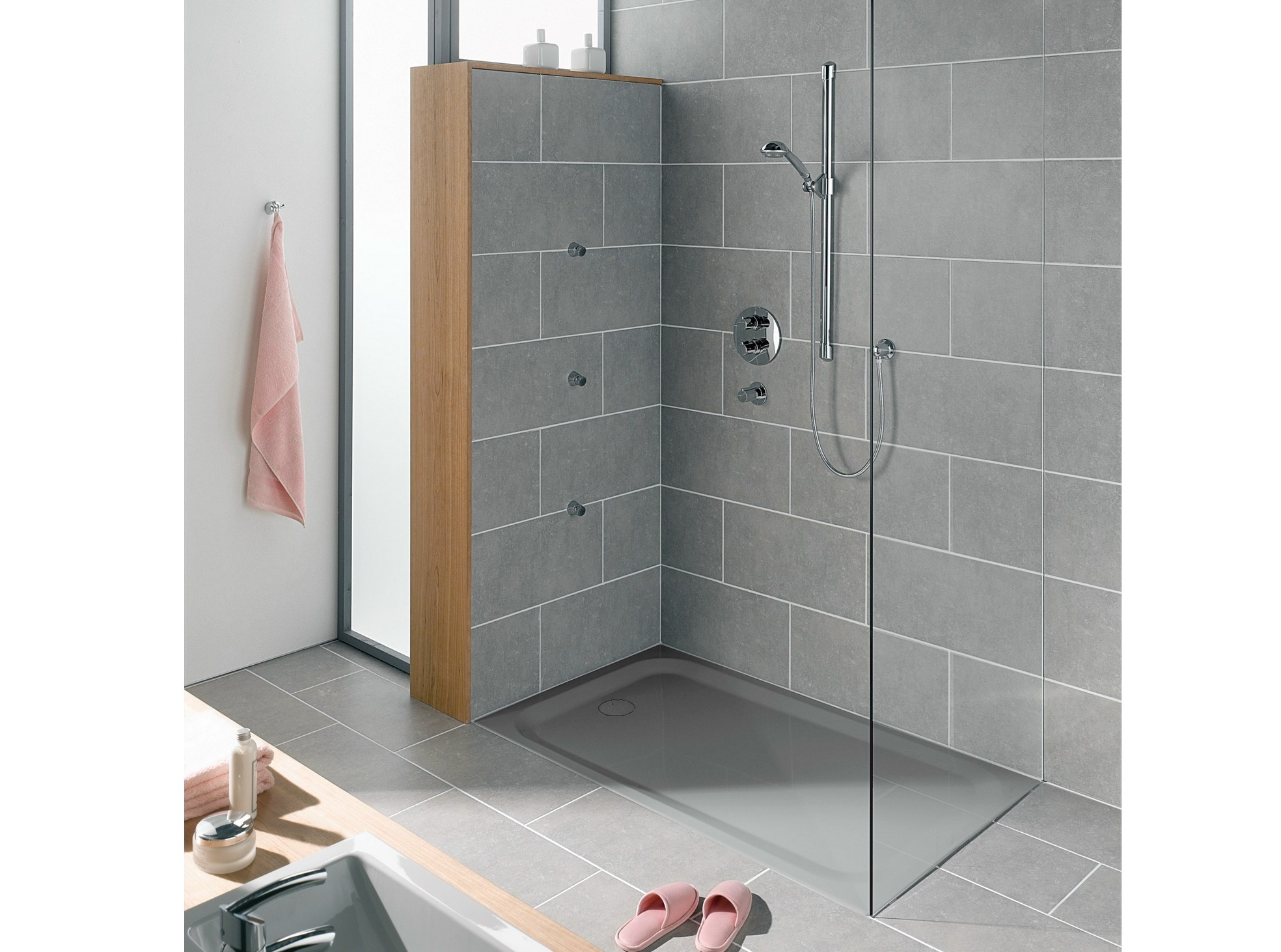 Superflach plato de ducha rectangular by bette for Duchas a ras de suelo