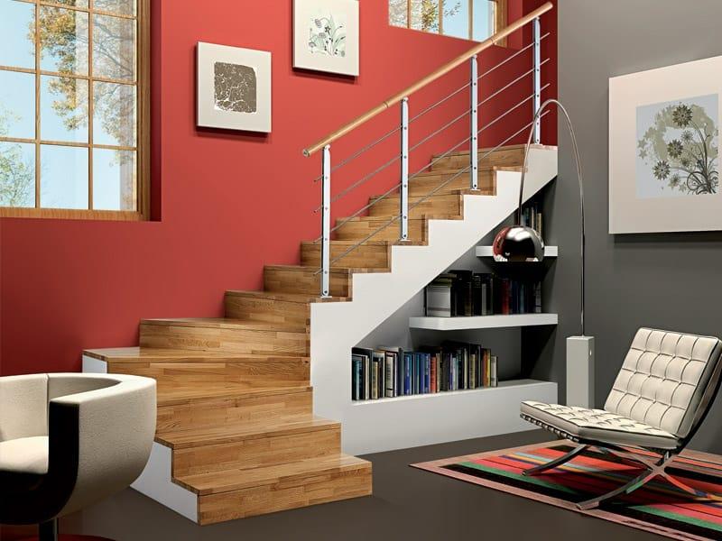 Parapetto in acciaio e legno per scale minimal by rintal - Rintal scale forli ...