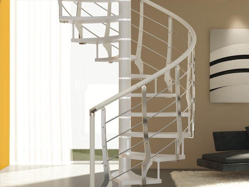 Parapetto in acciaio e legno per scale multiblade by rintal - Rintal scale forli ...