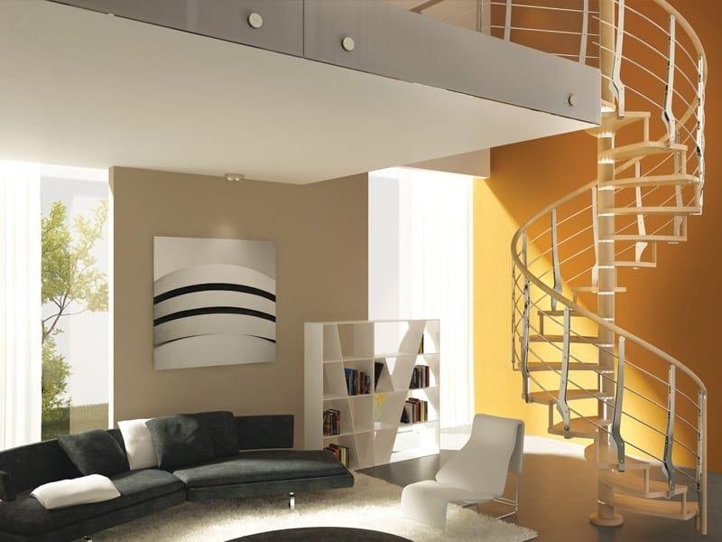 Parapetto in acciaio e legno per scale multiblade by rintal for Rintal scale prezzi