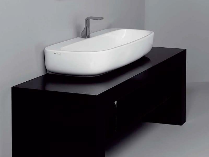 Lavabo da appoggio in ceramica mono 39 lavabo da for Flaminia lavabi