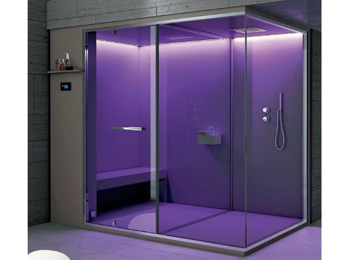 Ethos bagno turco con doccia by hafro design franco bertoli for Bagno con doccia