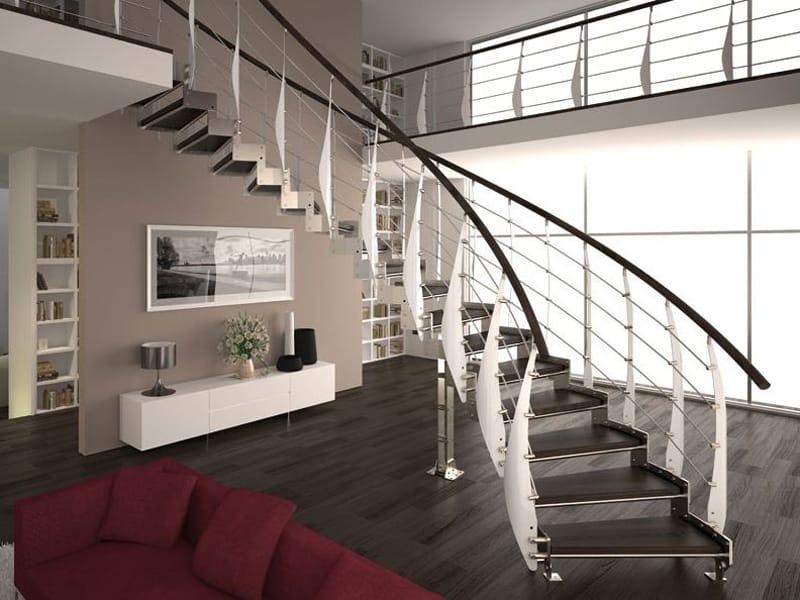 Baranda de escalera en acero para escaleras vela prima by for Escaleras rintal