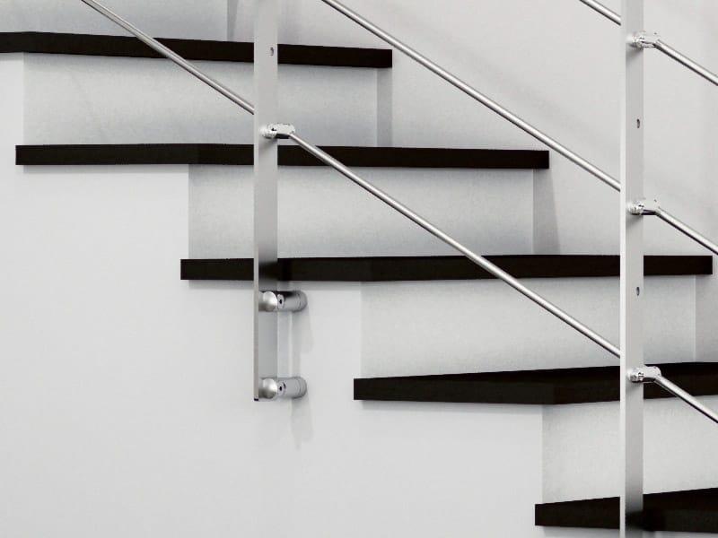 Parapetto in acciaio e legno per scale zenith - Rintal scale forli ...