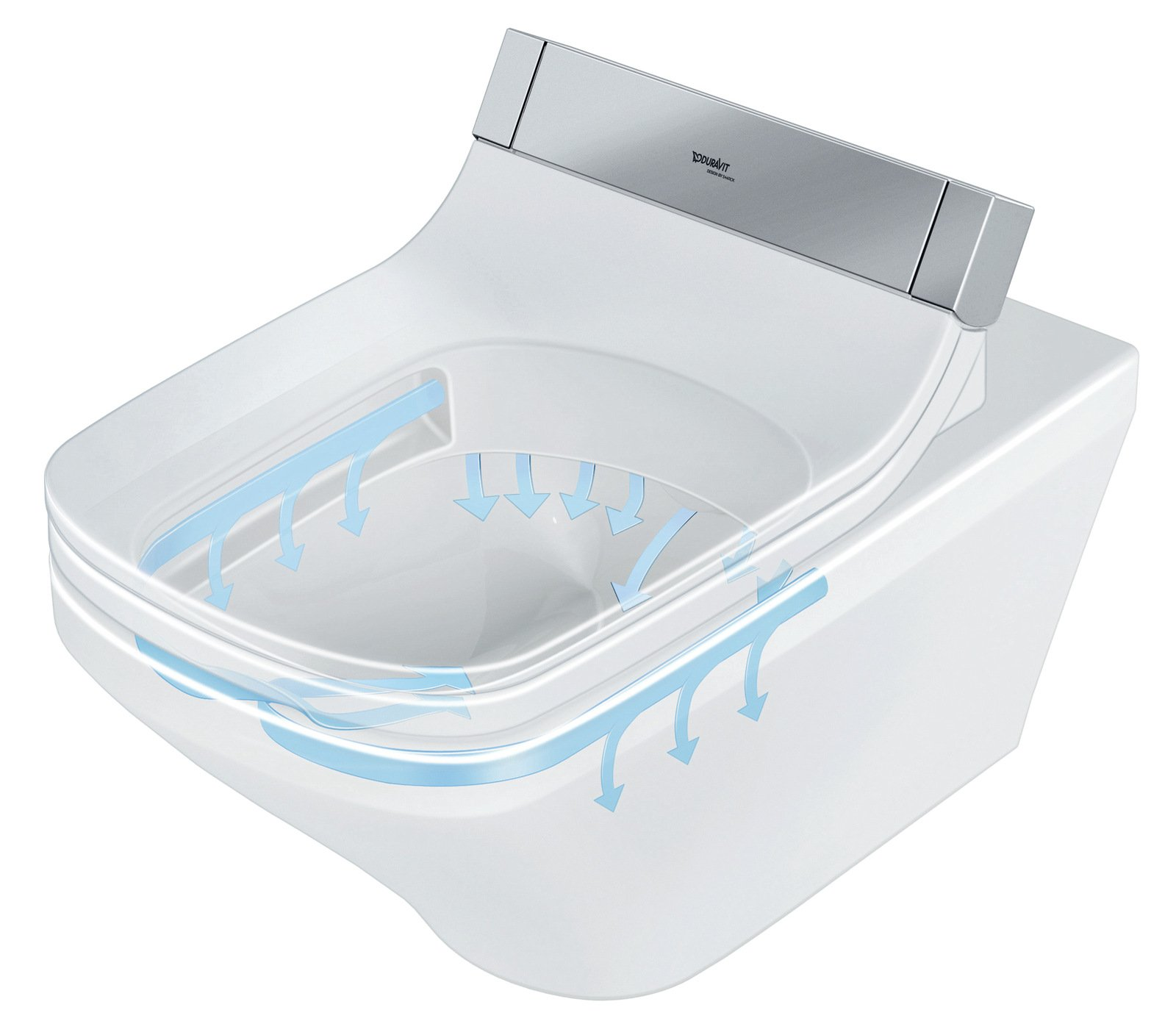 Sedile wc elettronico sensowash e by duravit italia for Wc bidet integrato