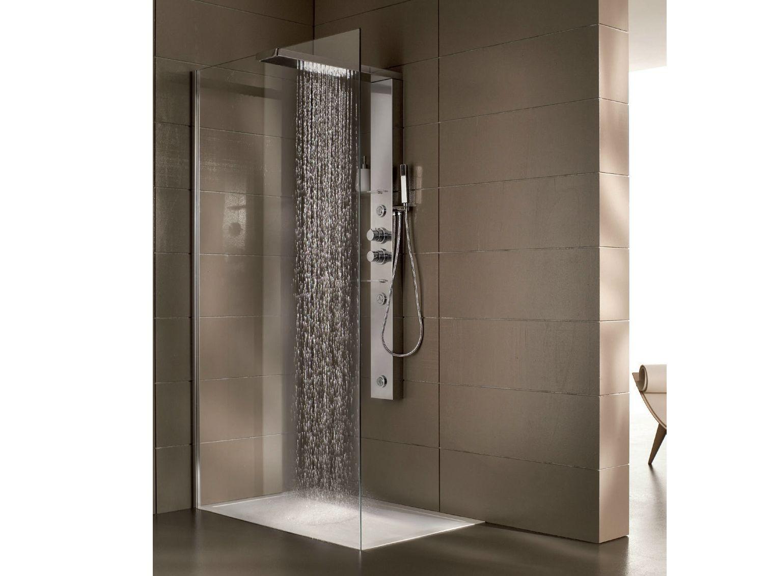 Box doccia angolare multifunzione in acciaio e cristallo con ...