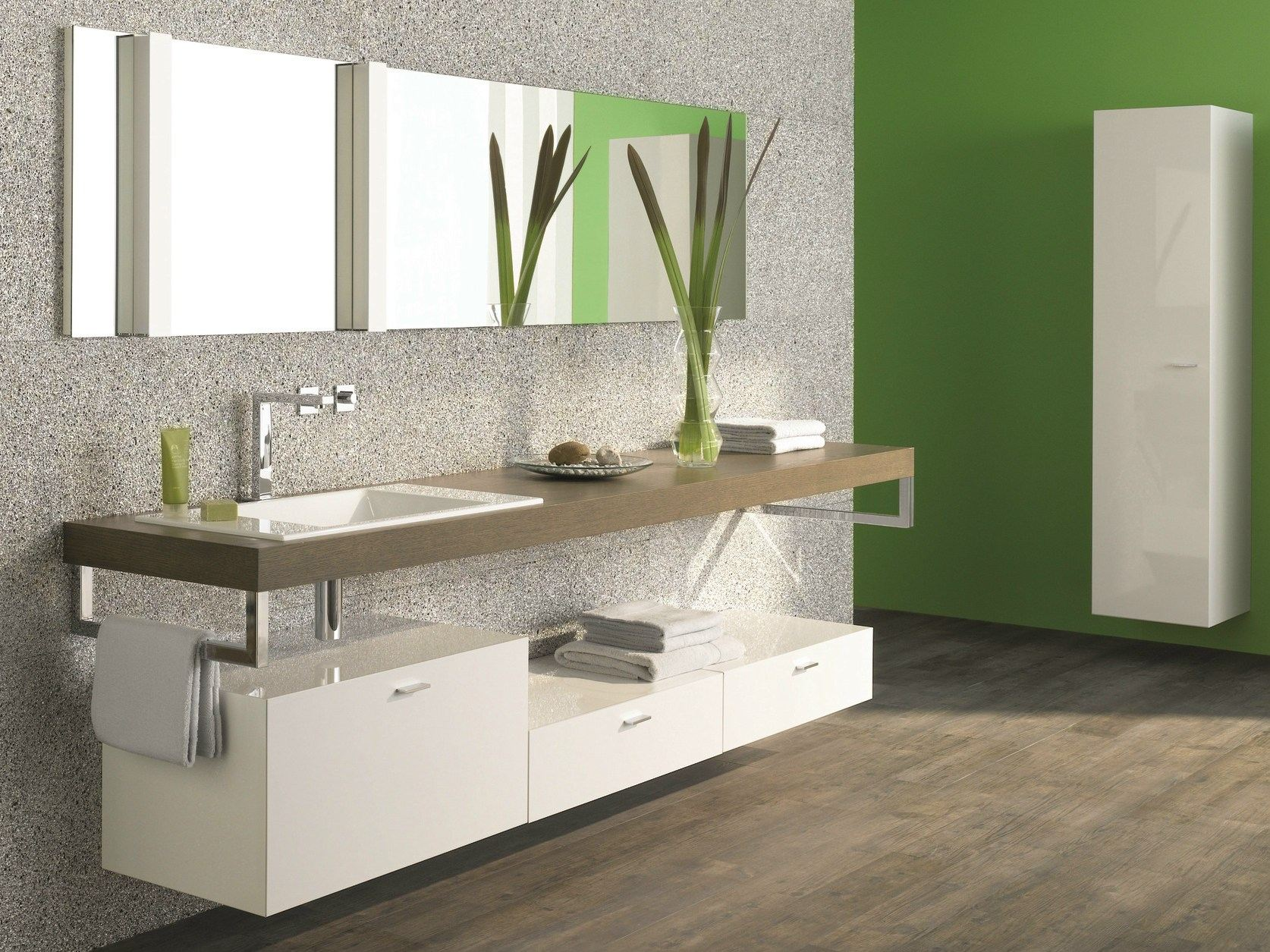 Plan de toilette simple en bois betteroom tr gerplatte by for Plan de toilette salle de bain