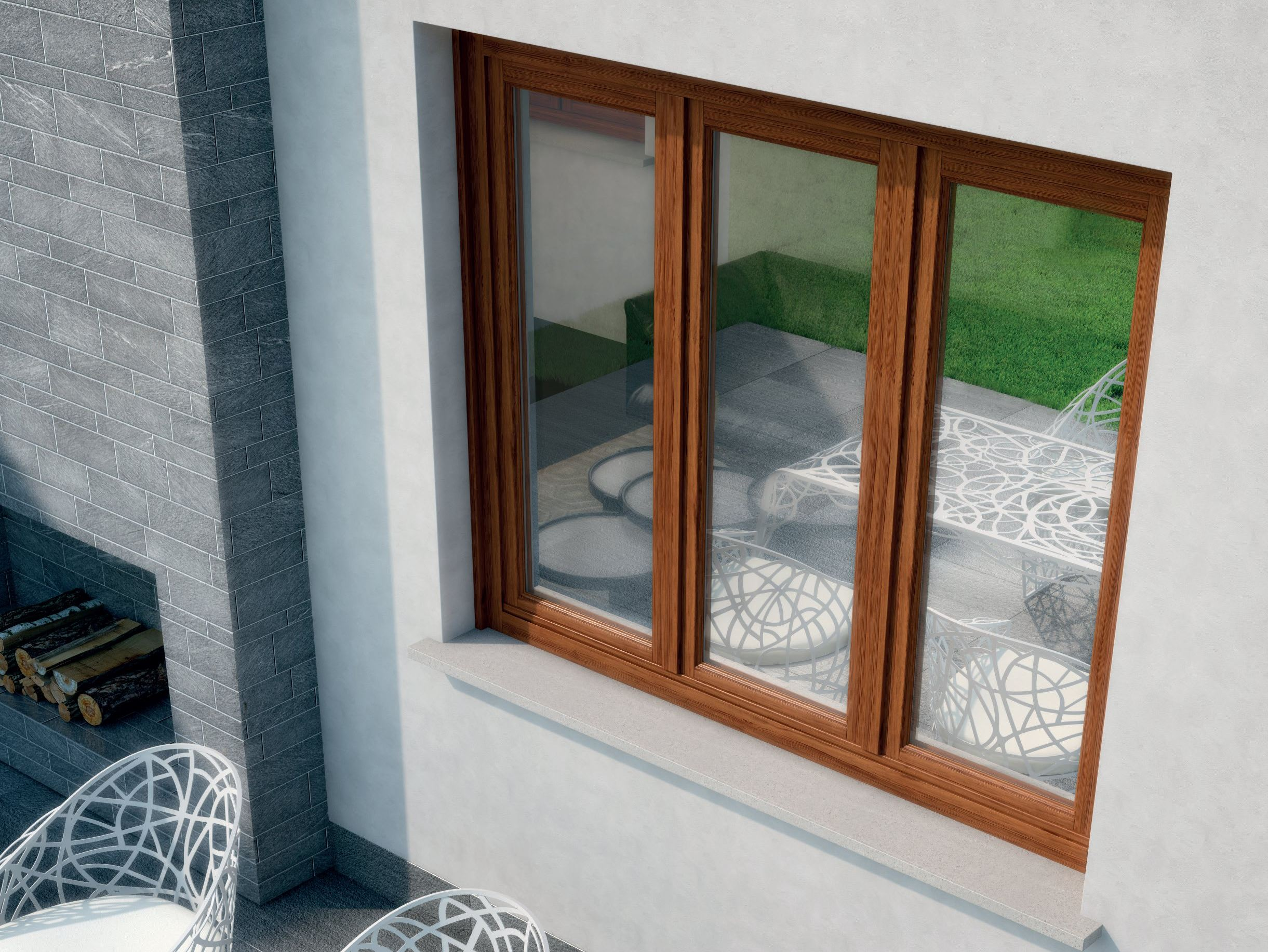 Alaska finestra a battente by bg legno - Finestre in frassino ...