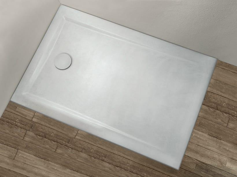 Piatto doccia rettangolare collezione pietrafina by hafro for Piastrelle 90x90 prezzi