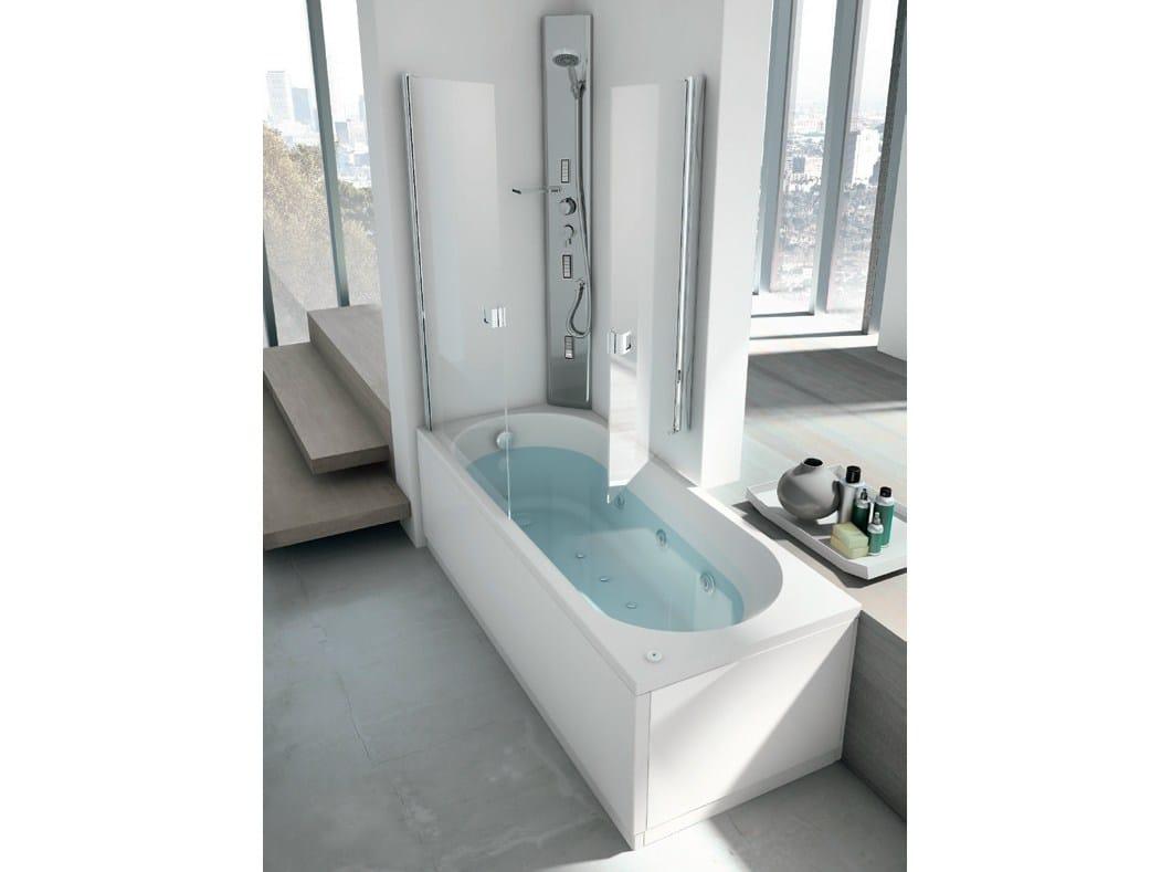 Vasca da bagno angolare idromassaggio con doccia linea - Vasca da bagno e doccia insieme ...