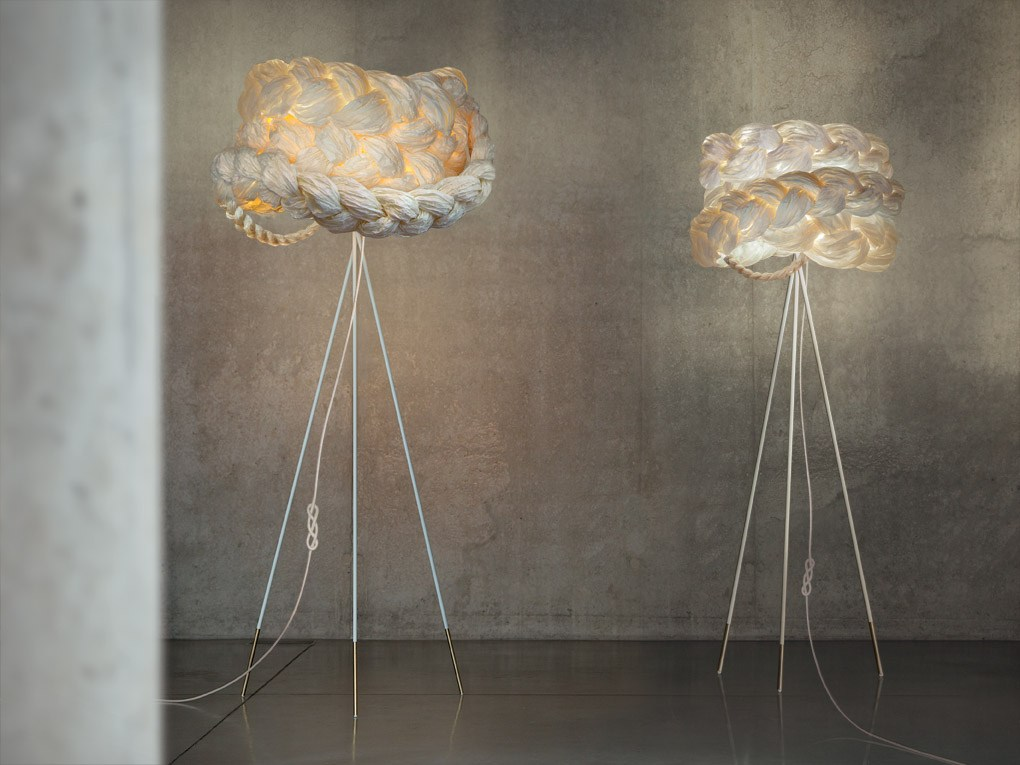 The bride large floor lamp by mammalampa design ieva kaleja for Doily paper floor lamp