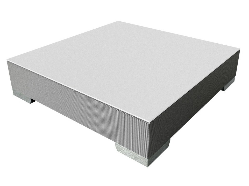 Milano square coffee table by s r nit luxury monaco for Chi square table df 99