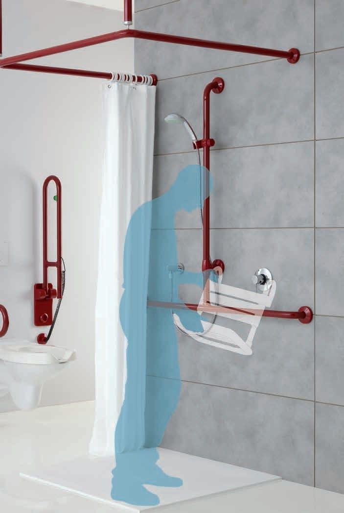 bagnosicuro maxima barre d 39 appui pour douche by ponte giulio. Black Bedroom Furniture Sets. Home Design Ideas
