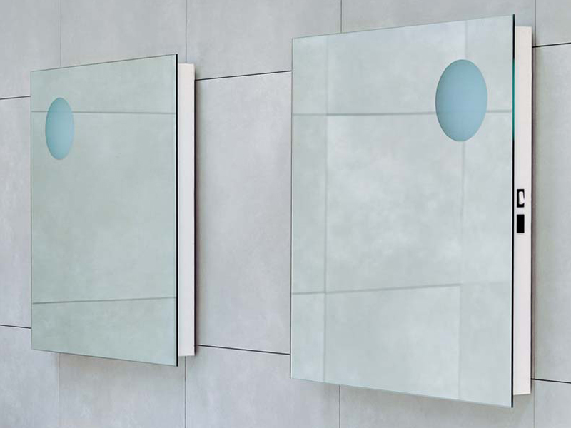 Simple 70 90 miroir carr by ceramica flaminia design for Miroir simple