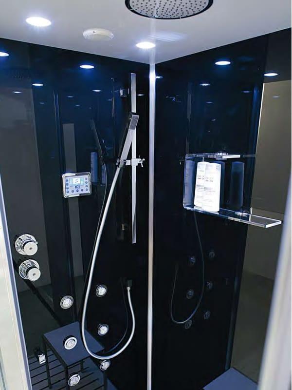 Box doccia multifunzione in cristallo con bagno turco tempo 120 x ...