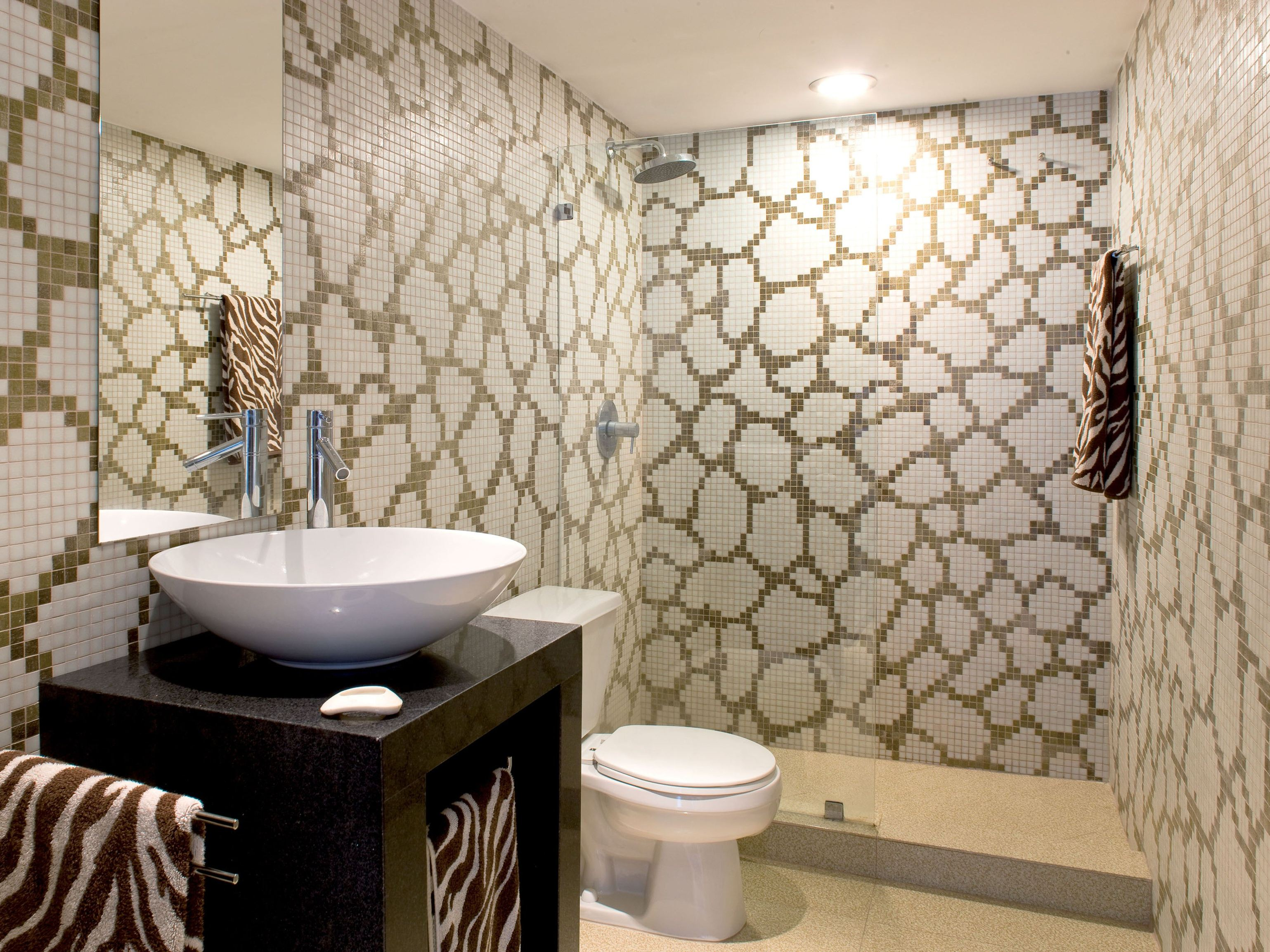 Mosaico de vidrio feel by trend group for Badezimmer muster