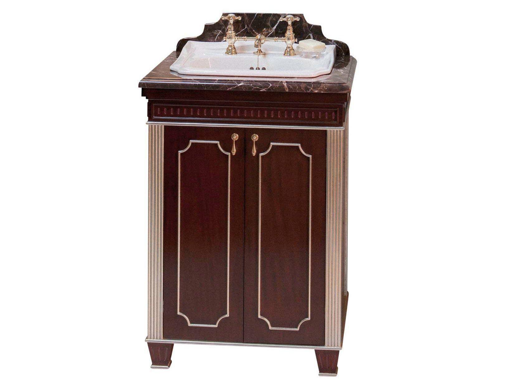 Mueble bajo lavabo de madera de estilo tradicional con - Mueble bajo lavabo con pedestal ...