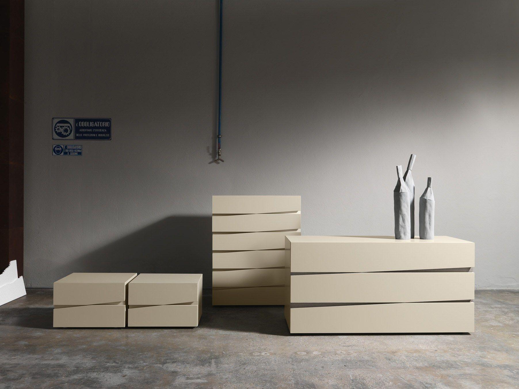 Jazz comodino by presotto industrie mobili design claudio lovadina - Mobili stile moderno ...