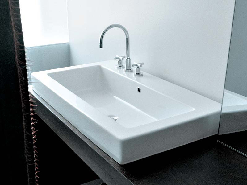 vasque encastrer rectangulaire en c ramique acquagrande 100 ligne acquagrande by ceramica. Black Bedroom Furniture Sets. Home Design Ideas