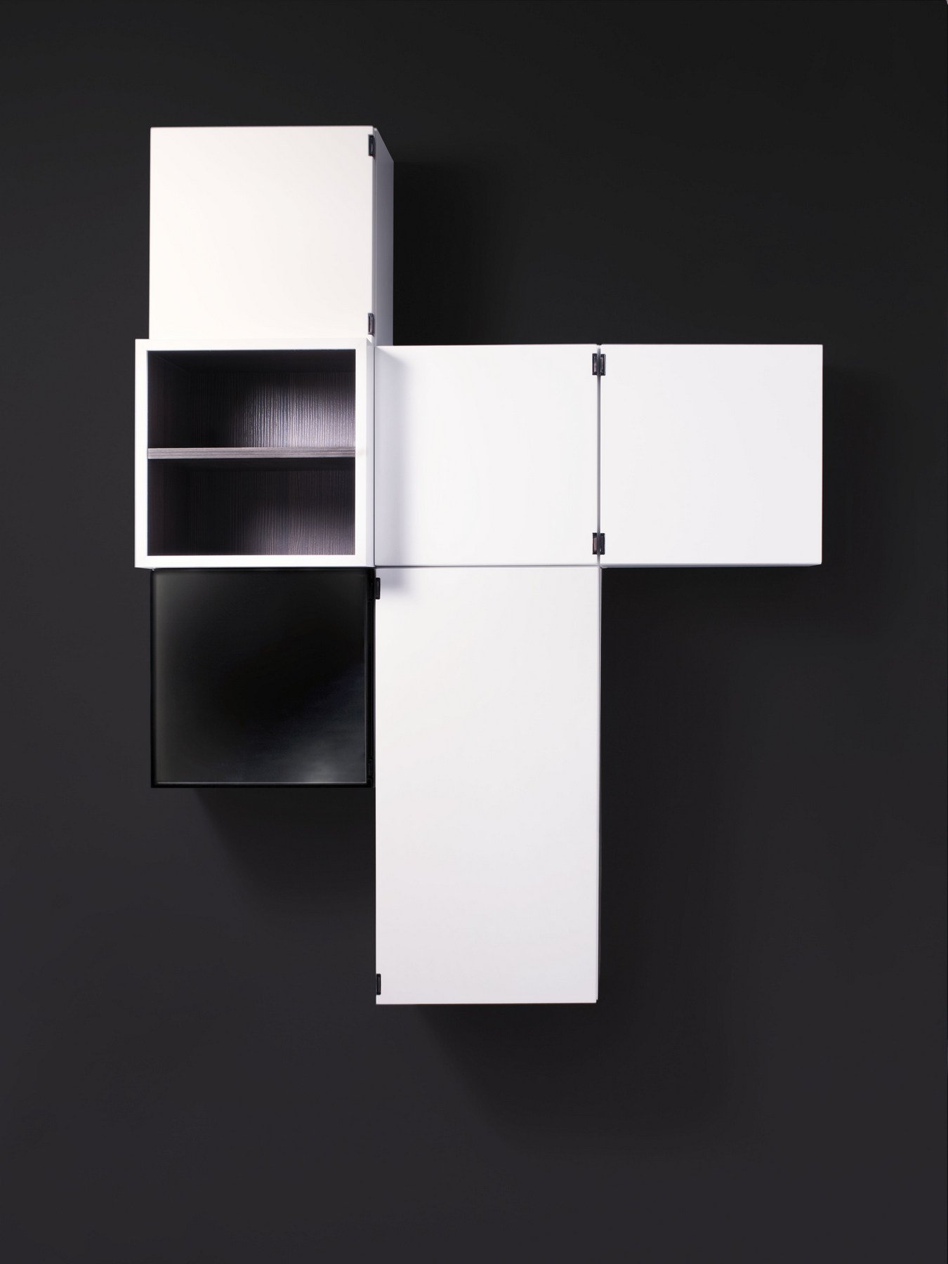 sectional suspended bathroom cabinet treves by boffi design piero