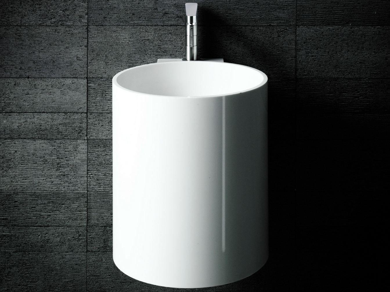 lave mains suspendu en corian rond phw by boffi design. Black Bedroom Furniture Sets. Home Design Ideas