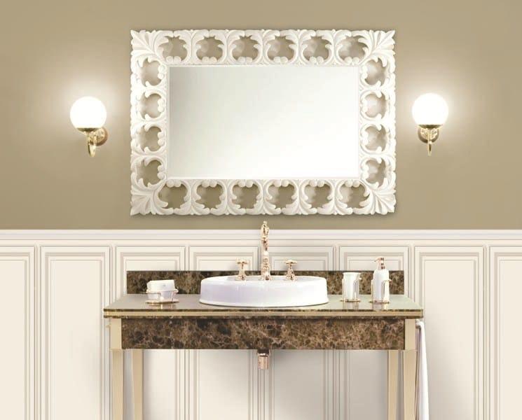 Specchio a parete con cornice lotus mirror by gentry home - Specchio con cornice ...
