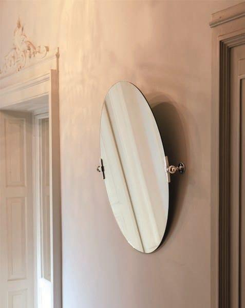 Specchio basculante ovale per bagno queen mirror by gentry home - Specchio ovale per bagno ...