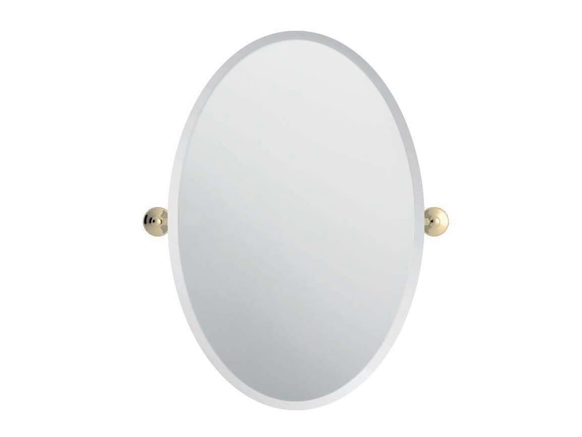 Miroir basculant ovale pour salle de bain eve by gentry home for Bain miroir shampoo