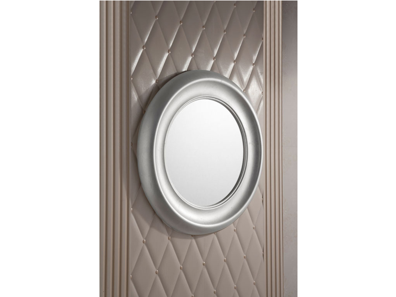 miroir rond avec cadre pour salle de bain moon by gentry home. Black Bedroom Furniture Sets. Home Design Ideas