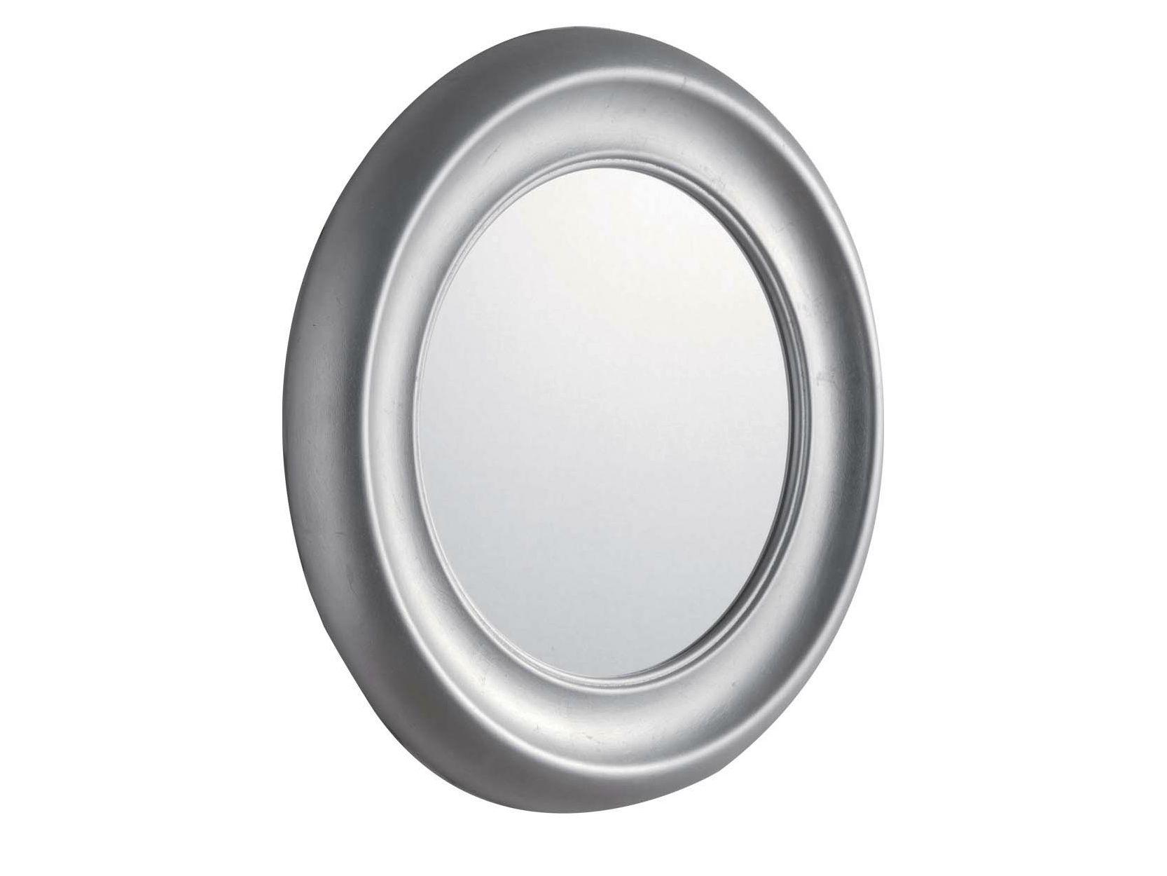 Miroir rond avec cadre pour salle de bain moon by gentry home for Miroir pour salle de bain