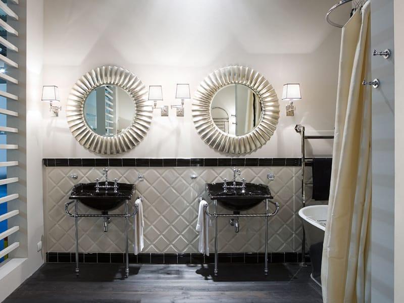 specchio rotondo con cornice per bagno joy by gentry home - Specchi Rotondi Per Bagno