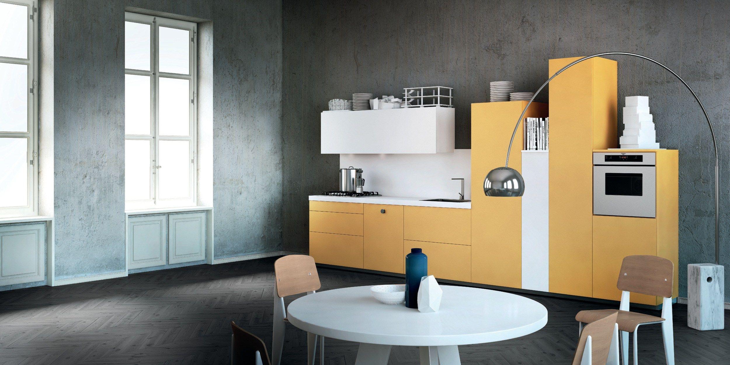 Cucina componibile milano by del tongo design prospero rasulo - Cucine a parete ...