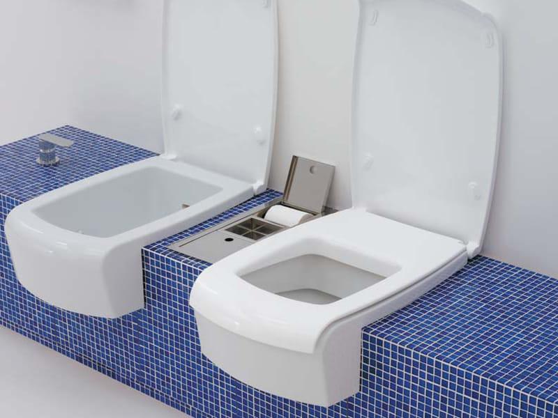 Una bidet by ceramica flaminia design romano adolini - Toilette da bagno ...