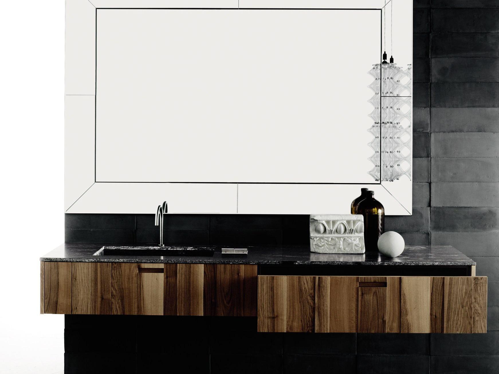Wood veneer vanity unit with drawers PROGRAMMA STANDARD by Boffi design Piero...