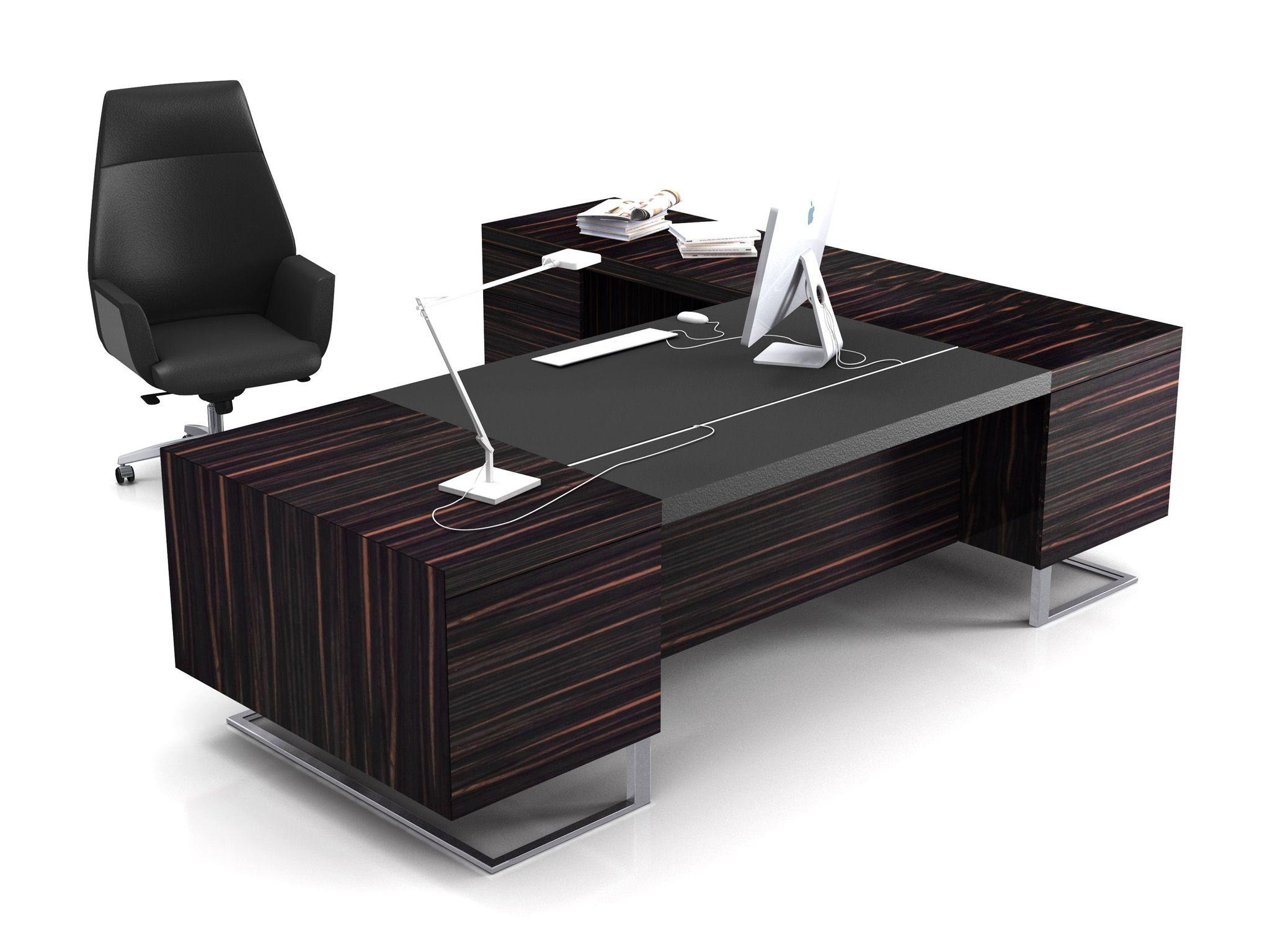 de escritório executiva retangular de madeira DECK LEADER Mesa de  #5F4744 2048x1536