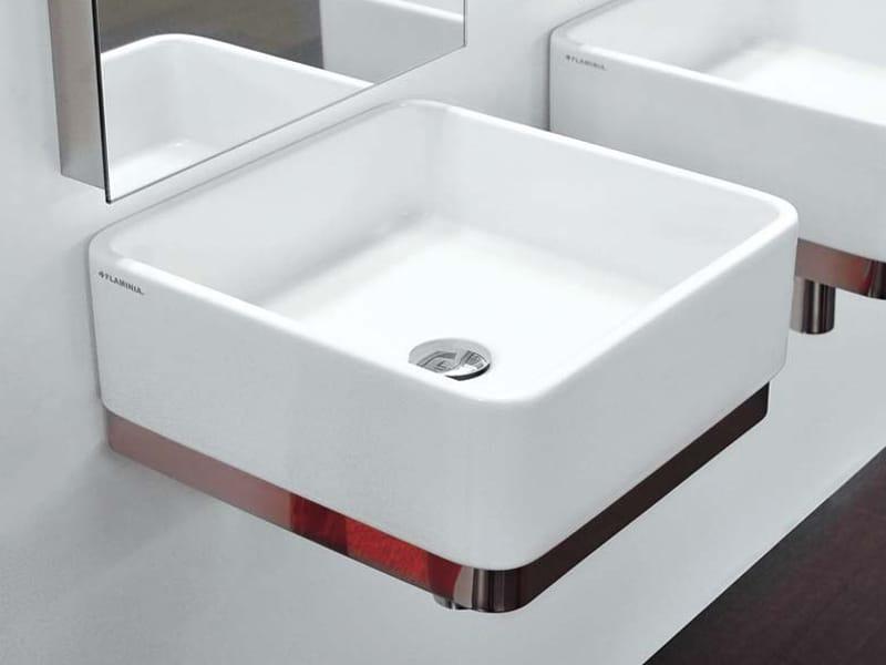 Wall mounted ceramic washbasin miniwash monowash miniwash for Flaminia lavabi